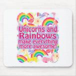 Unicorns and Rainbows Mouse Mats