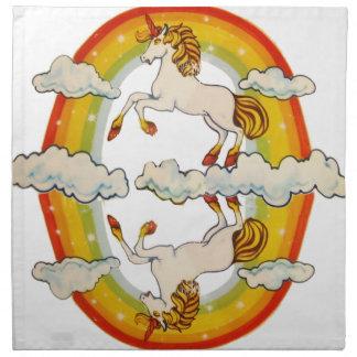Unicorns and rainbows napkin