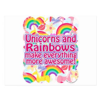 Unicorns and Rainbows Postcard
