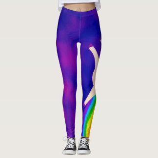 Unicorns and Rainbows Watercolor Party Gear Leggings