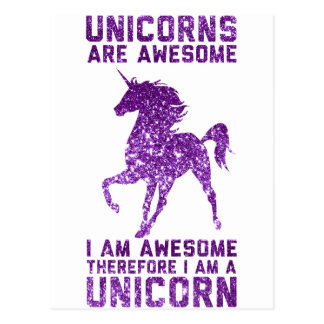 Unicorns Are Awesome Postcard