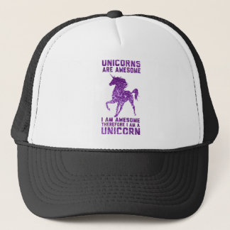 Unicorns Are Awesome Trucker Hat
