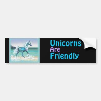Unicorns are friendly bumper sticker