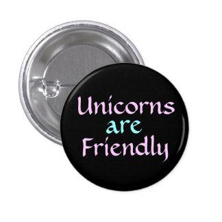 Unicorns are Friendly Button