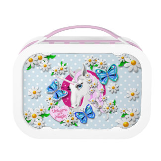 Unicorns are Magic Lunch Box in Blue