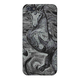 Unicorns Black Unicorn Black & White Drawing iPhone 5/5S Case