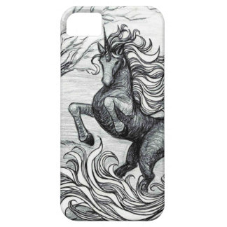 Unicorns Black Unicorn Black & White Drawing iPhone 5 Cases