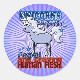 Unicorns Design Round Sticker