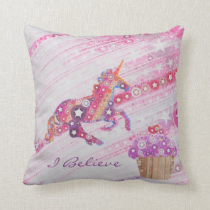 Unicorns- Gifts for Girls Personalised Cushion