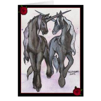 Unicorns in Love Card