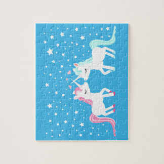 Unicorns in love cute puzzle