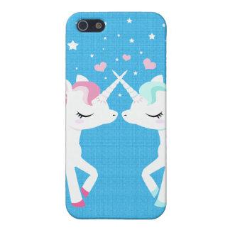 Unicorns in love Iphone case customisable iPhone 5 Cases