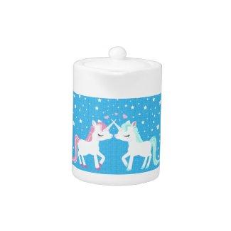 Unicorns in love Teapot