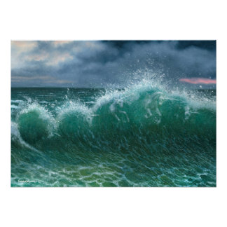 Unicorns in the Waves 20x28 Poster