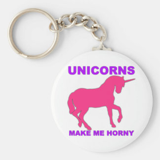 unicorns make me horny key ring