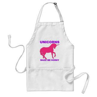 unicorns make me horny standard apron