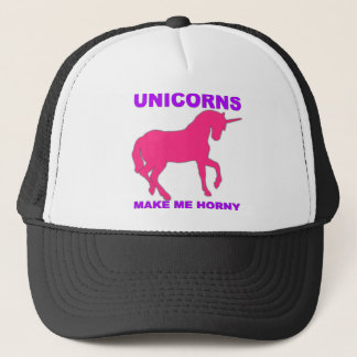 unicorns make me horny trucker hat