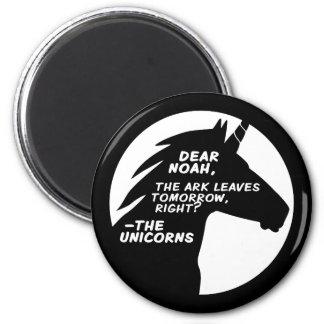 Unicorns Missed the Ark 6 Cm Round Magnet