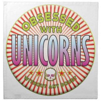 Unicorns Obsessed R Napkin