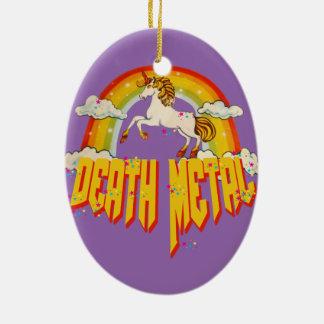 Unicorns of Death Metal Christmas Ornament