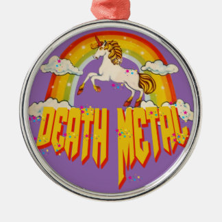 Unicorns of Death Metal Christmas Ornament