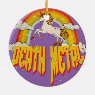 unicorns of death metal christmas ornament - Death Metal Christmas