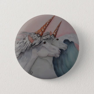 Unicorns of the sea 6 cm round badge