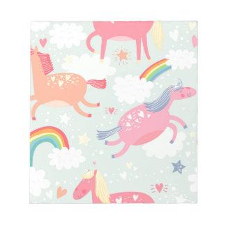 Unicorns & Rainbow Notepad