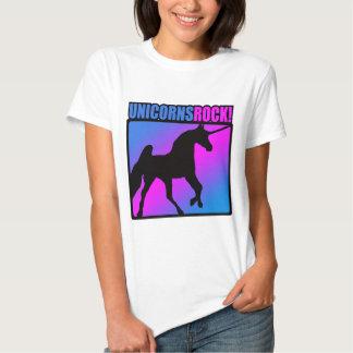 Unicorns Rock! T Shirts