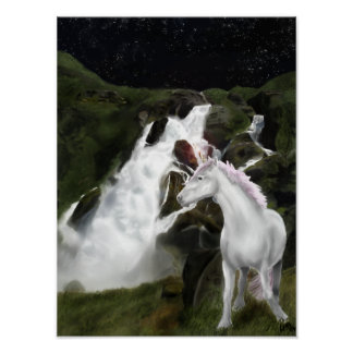 Unicorn's waterfall poster