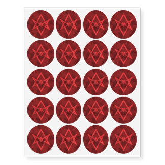 Unicursal Hexagram (Red Textured)