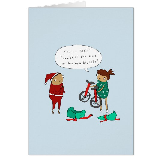 Unicycle Christmas | Funny Cycling Christmas Card