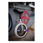 Unicycle for Peace Poster