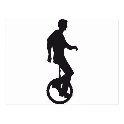unicycle more rider postcard