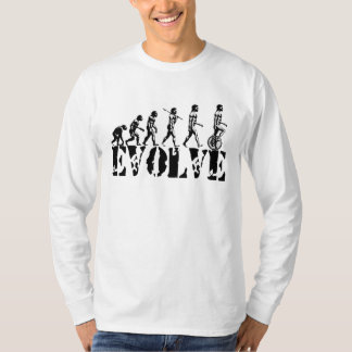 Unicycle Unicycling Sport Evolution Art T-Shirt