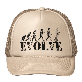 Unicycling Unicyclist Unicycle Evolution Sports Cap