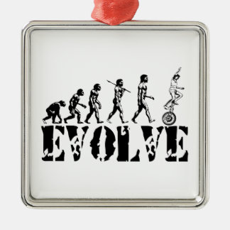 Unicycling Unicyclist Unicycle Evolution Sports Christmas Ornament
