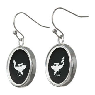 Unidentified Flying Object Petroglyph Earrings