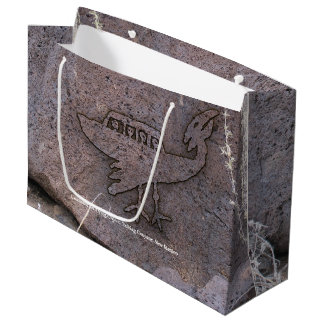 Unidentified Flying Object Petroglyph Large Gift Bag