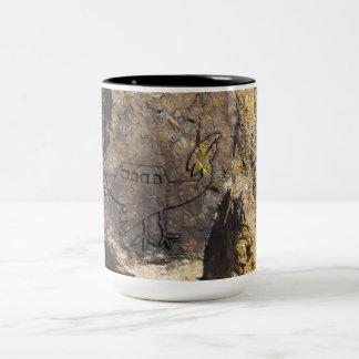Unidentified Flying Object Petroglyph Two-Tone Mug