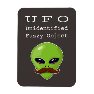 Unidentified Fuzzy Object Rectangular Photo Magnet