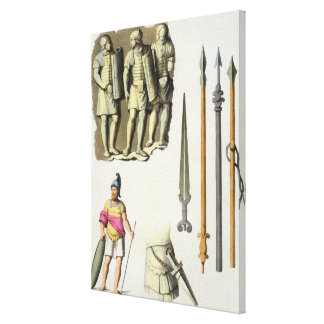 Uniform and weapons of Roman legionaries, from 'Le Canvas Print