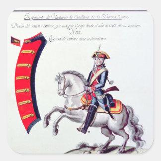 Uniform of the Volunteers Square Sticker