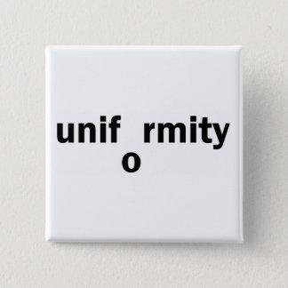 uniformity 15 cm square badge