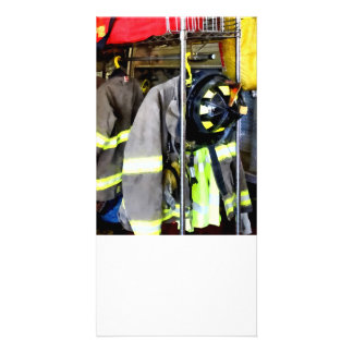 Uniforms Inside Firehouse Customized Photo Card