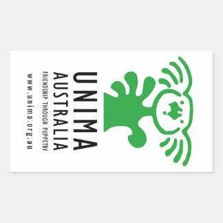 UNIMA Australia sticker WHITE (Sheet of 4)