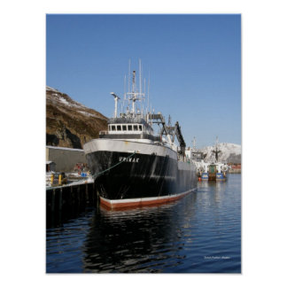 Unimak, F/T Fishing Trawler in Dutch Harbor, AK Poster
