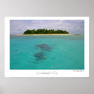 Uninhabited ~ Fiji ~ Travel Poster