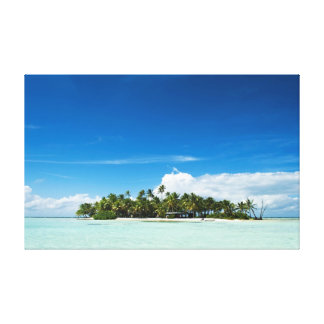 Uninhabited island stretched canvas prints