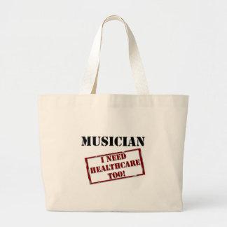 Uninsured Musician Large Tote Bag